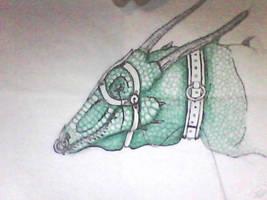 captive dragon by sneezydragon