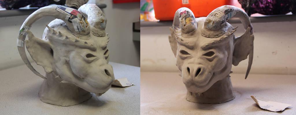 Gargoyle head by sneezydragon