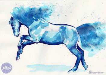 Inktober 10 - horse