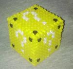 3D Question Block Perler Beads