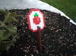 Perler Bead Tomato Garden Sign