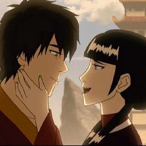 Zuko and mai kiss by luliiiluuu