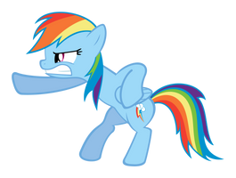 Rainbow Dash Action Pose by delectablecoffee