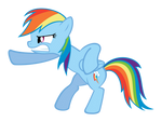 Rainbow Dash Action Pose