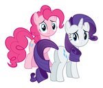 Rarity and Pinkie Pie Looking Concerned