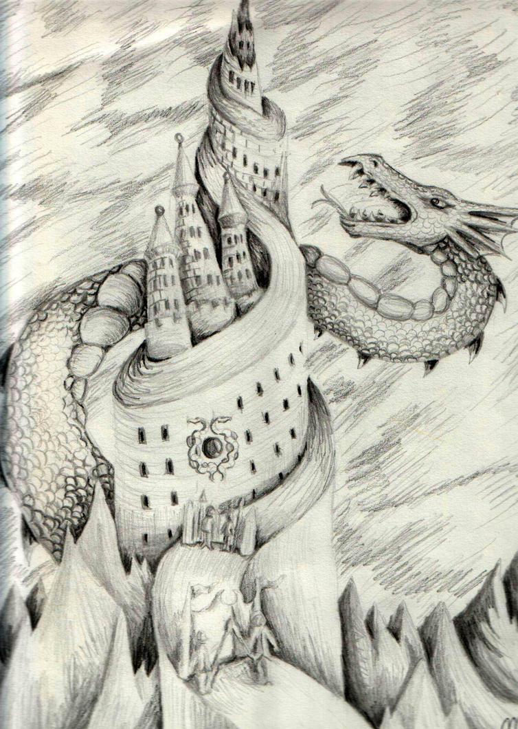 serpent dragon by DarkZoneRomana