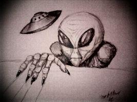 Window Alien By Darkzonewitch-d4shqph by DarkZoneRomana