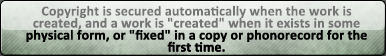 Copyright is Automatic