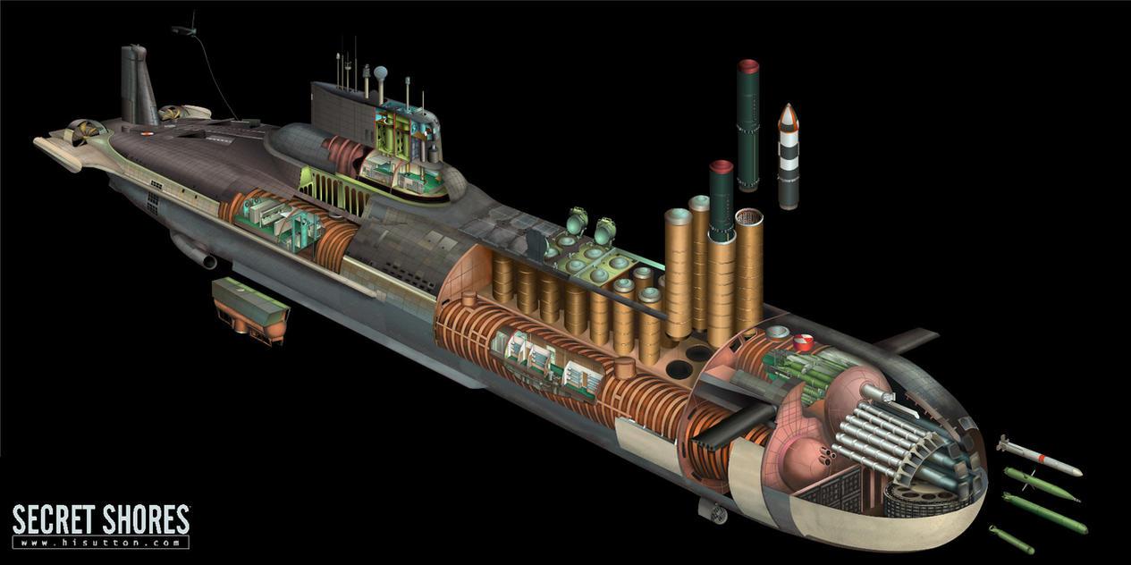 Submarine Cutaway Russian Typhoon Class Ssbn By Hisutton