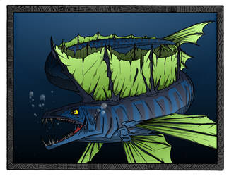 Eel/Fish Monster by BasiliskComics