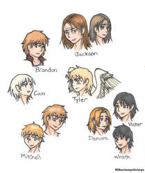 Character Faces by hikariangelwings