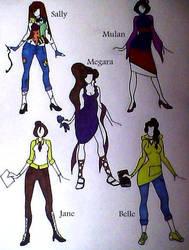 Modern Disney Girls 2 by Mokomo43