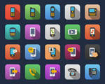 Phone flat icons by Alexgorilla