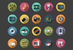 Multimedia Flat Icons bundle