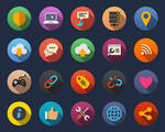 Web and Internet Flat Icons