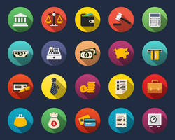 Finance Flat Icons by Alexgorilla
