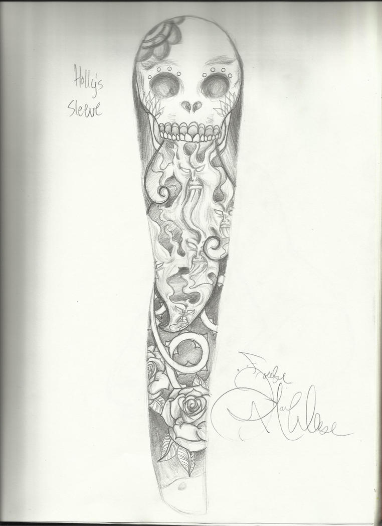 tattoo sleeve for holly by draw me to death on deviantart