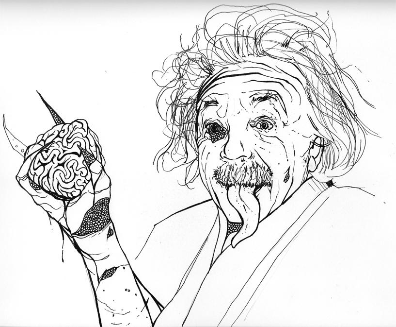 Reptilian Einstein by AaronFrick