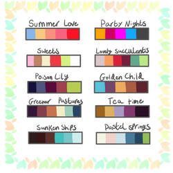Custom Mystery Palette Adopts -9/10 Open- by Anniekitty14
