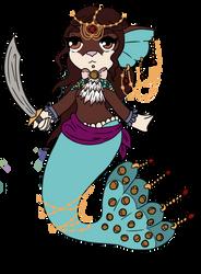 (A) Mermay Wishful- Golden Pirate -OPEN- by Anniekitty14
