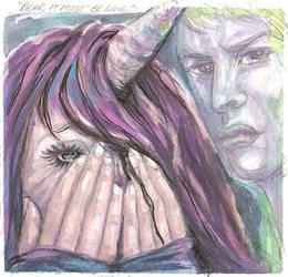 The Unicorn Girl's Sacrifice by ValentinaKaquatosh