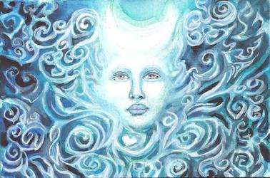 Winter's Full Moon Goddess by ValentinaKaquatosh