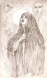 Jagged Dagger Witch and the Three Banshees by ValentinaKaquatosh