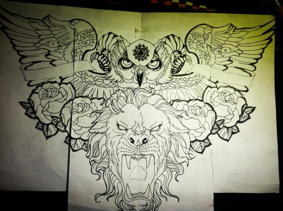 Remade design for chest tattoo by jonathanmartel08 on for Chest tattoo drawings