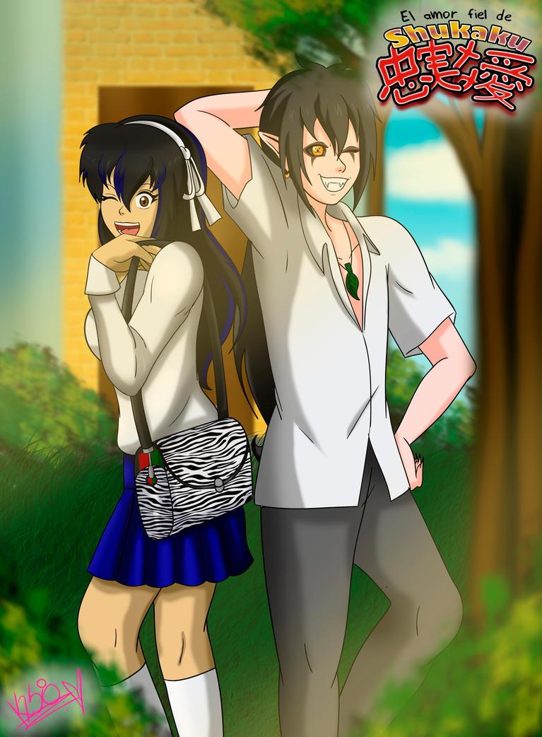 Shukaku and Aome - Together by aomehigurashi258