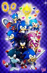 Sonic fan art - By Aome-chan by aomehigurashi258