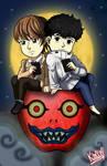 Minoru and Light - Death Note - By Aome-chan by aomehigurashi258