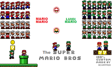 The Super Mario Bros Custom Sprite Sheet By Rchammer97 On Deviantart