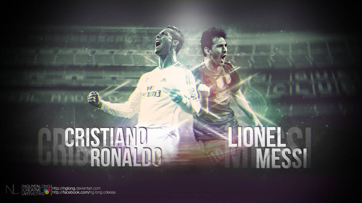 Cristiano Ronaldo And Lionel Messi Wallpaper By Nglong On Deviantart