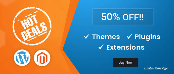 50% Off On All WordPress And Magento 2 Products