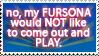 Stamp- Dont Play w My Fursona by Fyuvix