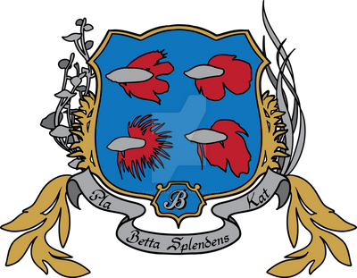 Betta Splendens Coat of Arms by ThirdPotato