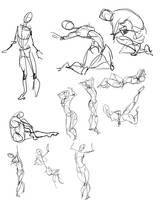30 Sec gesture drawings by ThirdPotato