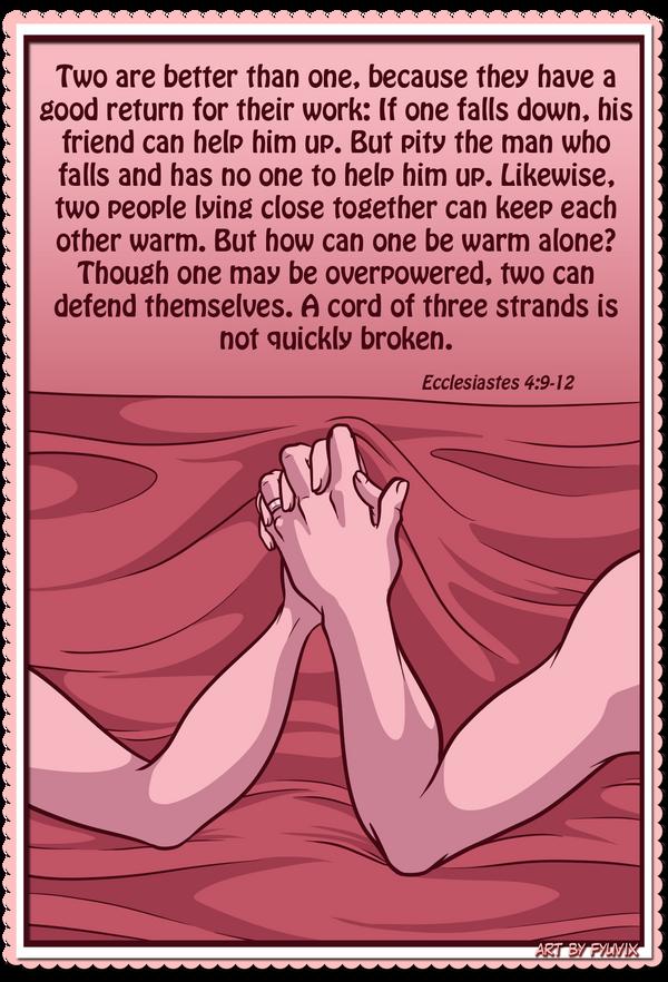 Valentines- Ecclesiastes 4:9-12 by Fyuvix