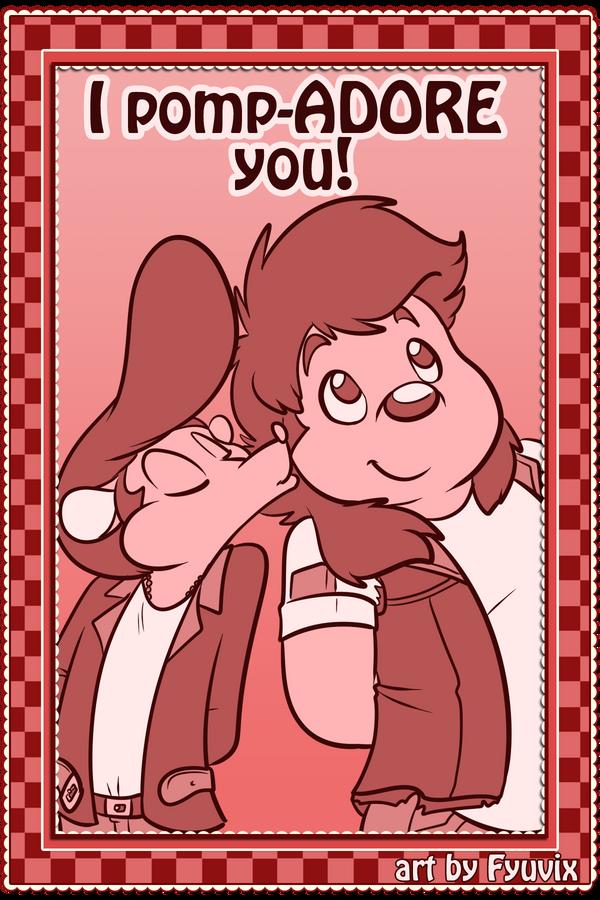 Valentine- I pompADORE you by Fyuvix