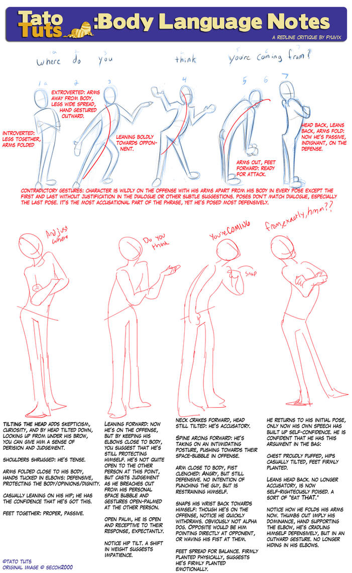 TatoTuts: Body Language Notes by Fyuvix