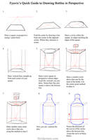 Quick Guide- Drawing Bottles in Perspective by ThirdPotato