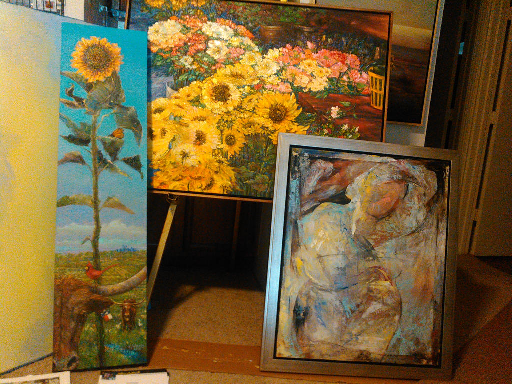 Three pieces ready for Exhibitions around Dallas by sllatreille