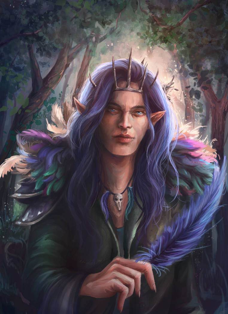 [Comm] Kyhmall, the Elven King by Isminne