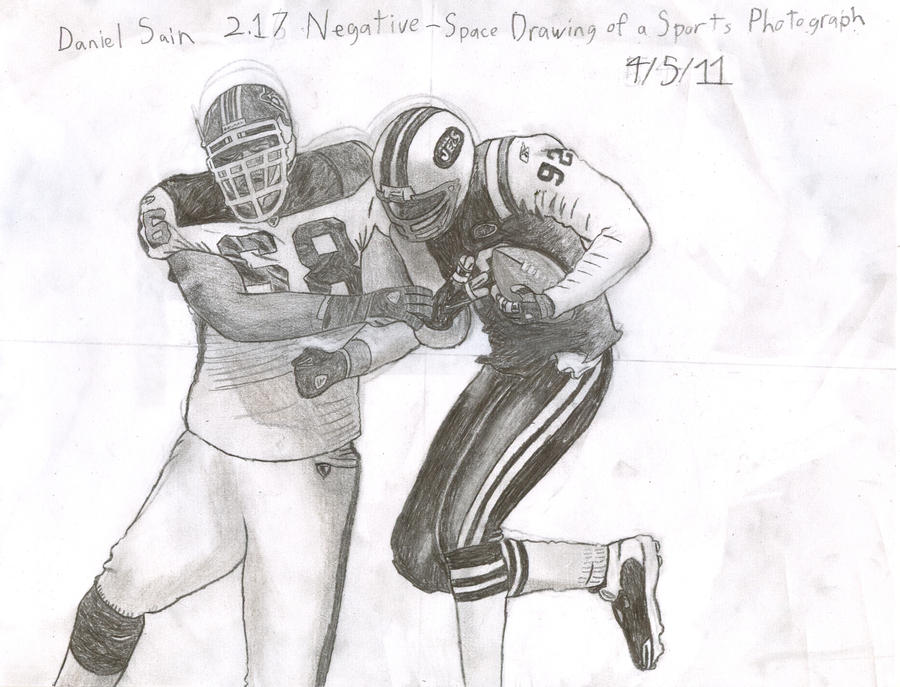 negative space drawing of a sports photograph by ichicora uzumaki - Sports Drawing Pictures