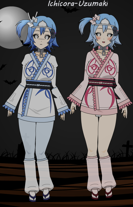Kisekae Ghost and Skimpy Ghost by Ichicora-Uzumaki