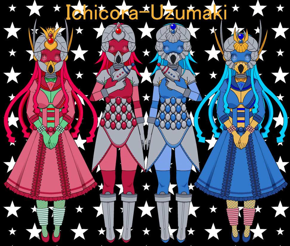 Kisekae Aliens by Ichicora-Uzumaki