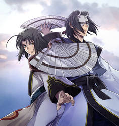 a couple of man who is named Haku by kisataro
