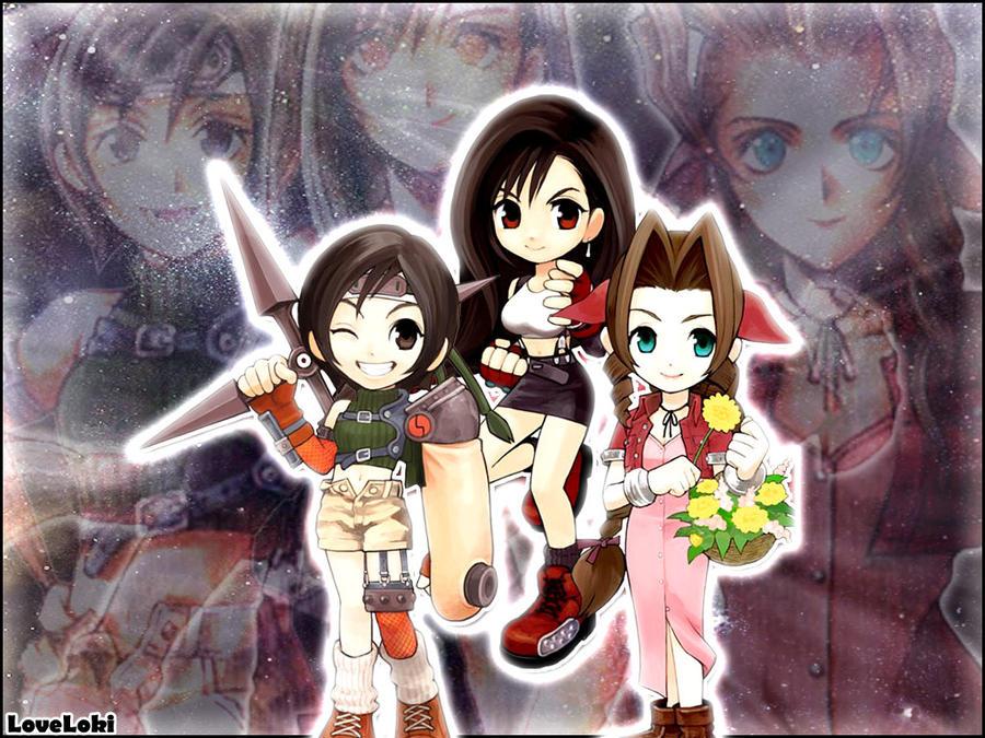 Final Fantasy VII. Tifa, Aerith, Yuffie   Final fantasy ...   Yuffie And Aerith