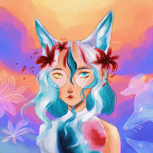 flowers and foxes