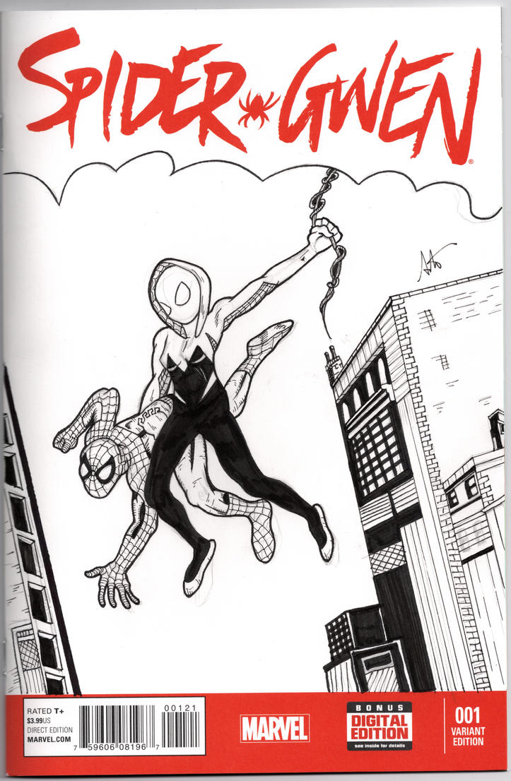 Spider-Gwen 1 Sketch cover by ALaVerghetta